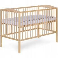 łóżeczko drewniane Klupś (Radek 2 sosna)